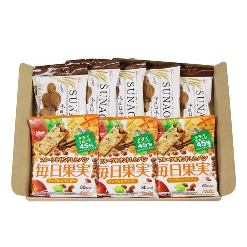 グリコ SUNAO〈チョコチップ〉(5コ)& 毎日果実 アップル&マンゴー(3コ)セット
