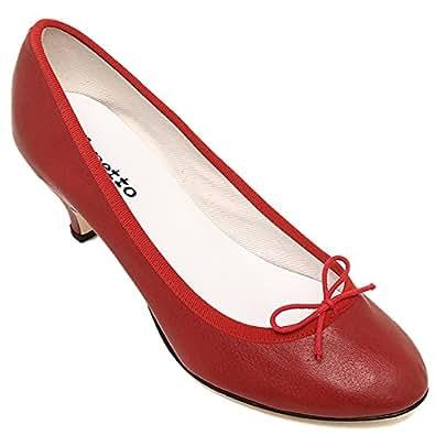 (レペット) repetto レペット シューズ repetto V1180CR 550 GISELE ジゼル レディース Distressed Goatskin ゴートスキン 靴 パンプス ローヒール ピンヒール フレームレッド[並行輸入品]