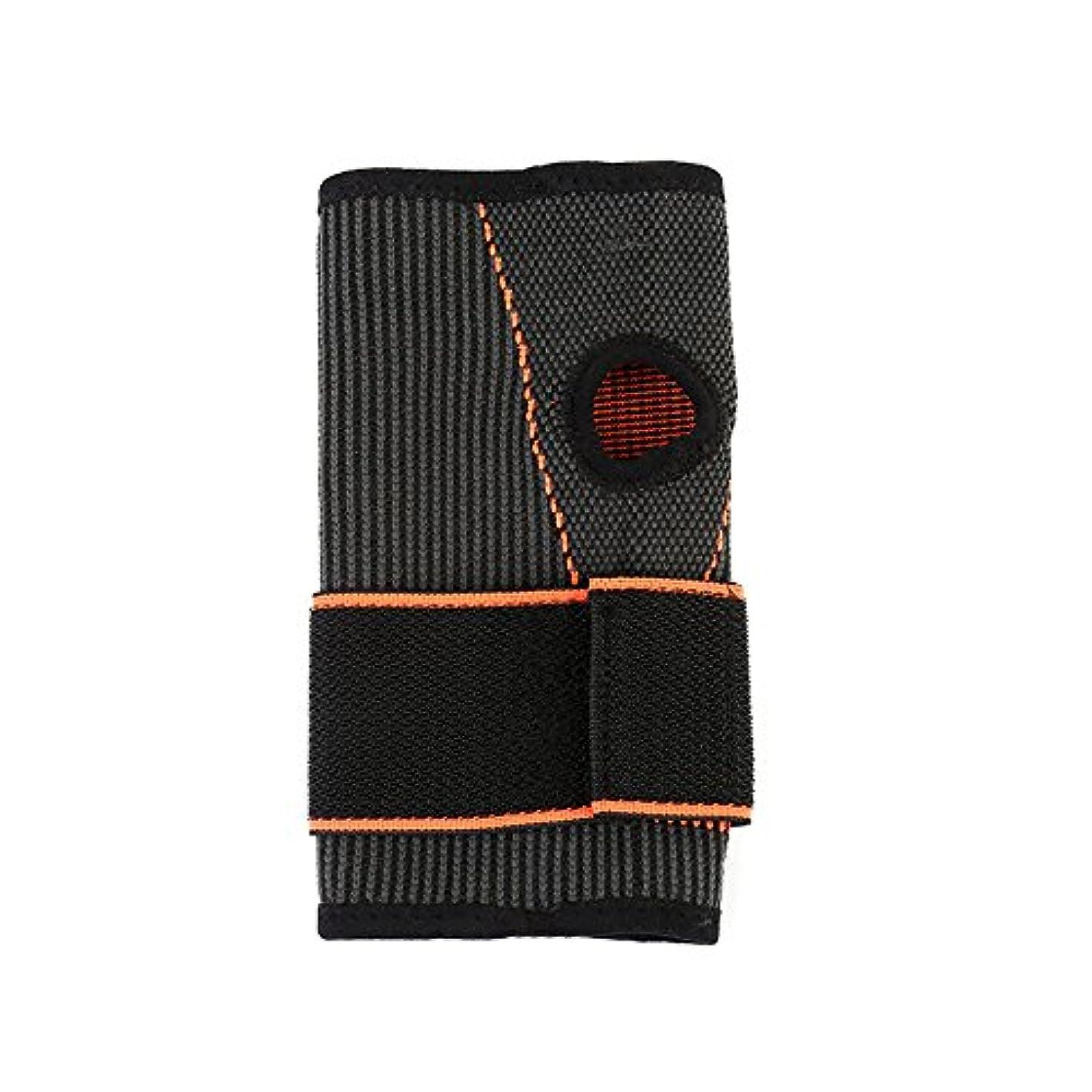霧深い条約アジャSportgosto スポーツリストバンド加圧パームは大人用に調整可能 (色 : 黒)