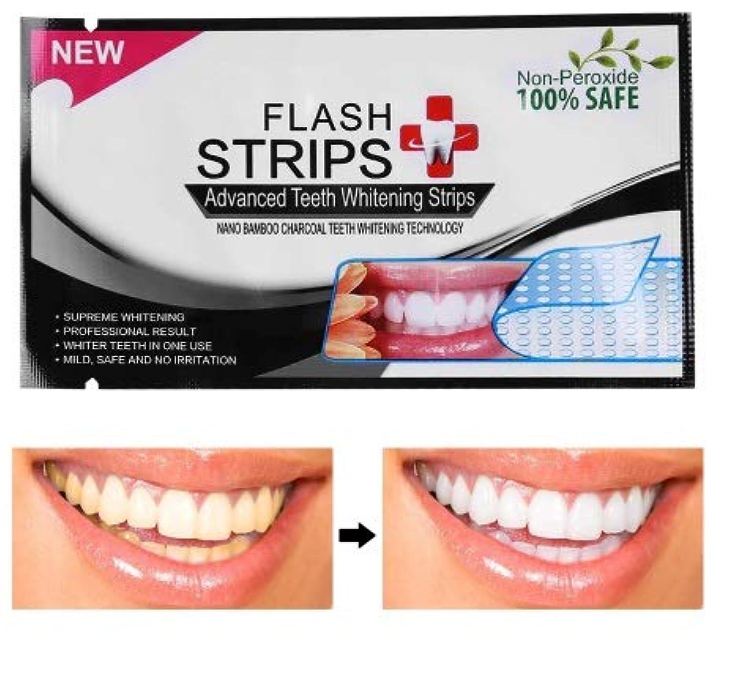 夕食を食べる要件フェロー諸島Izmirli- Flash 28Pcs/14pouches 3D White Gel Teeth Whitening Strips Tooth Dental kit Oral Hygiene Strip - 28Pcs...