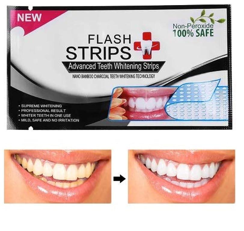 穀物並外れたロータリーIzmirli- Flash 28Pcs/14pouches 3D White Gel Teeth Whitening Strips Tooth Dental kit Oral Hygiene Strip - 28Pcs...