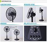 山善(YAMAZEN) 30cmリビング扇風機 風量3段階 (押しボタンスイッチ) 切タイマー付き 2個組 YLT-C30*(B)*2 ブラック