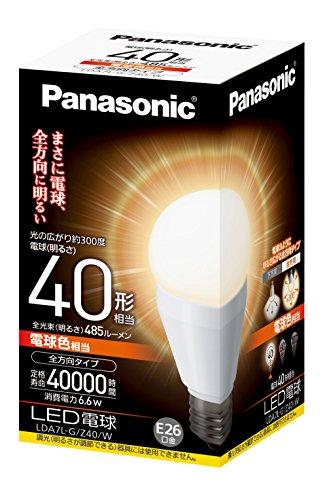 LED電球 一般電球タイプ 全方向タイプ4 LDA7LGZ40W 箱1個