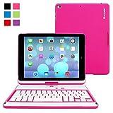 Best Snugg iPadのケース - iPad Air/New iPad 9.7インチ360回転可能キーボードケース、Snugg–ウルトラスリムブラックキーボードカバーケースwith Bluetooth接続性for Apple iPad Air/iPad Review