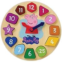 Peppa Pig Wood Puzzle Clock [並行輸入品]