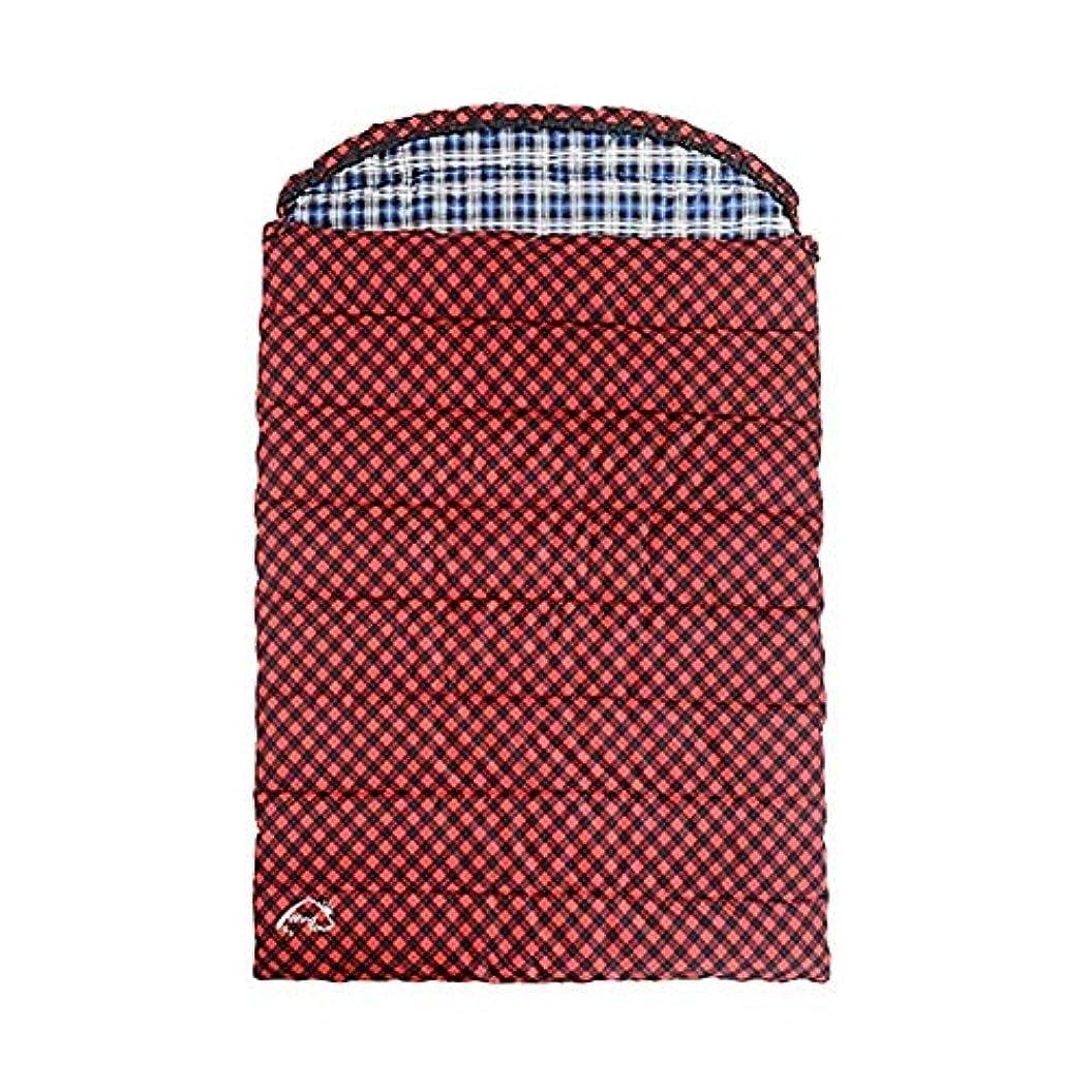 安全サラダレンダリングカップルダブル寝袋キャンプ軽量コンパクトで暖かい快適な室内用スリーピングマット大人用のハイキングバックパック登山野外活動用レッド(サイズ:3.2kg)