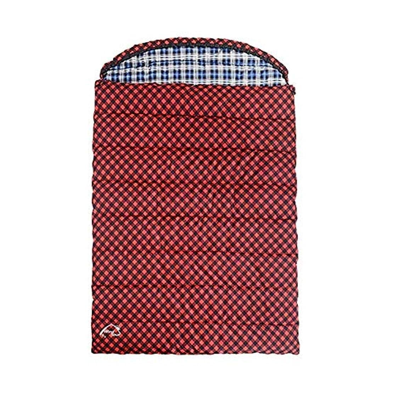 移植殺人邪魔カップルダブル寝袋キャンプ軽量コンパクトで暖かい快適な室内用スリーピングマット大人用のハイキングバックパック登山野外活動用レッド(サイズ:3.2kg)