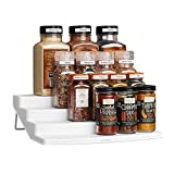 YouCopia Spicesteps 4-Tier Kitchen Cabinet Spice Shelf Organizer, 24-Bottle, White