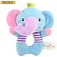 aisikasi Baby Rattles Toy Elephant Rattles柔らかい布手Ringingおもちゃ0 – 36ヶ月の