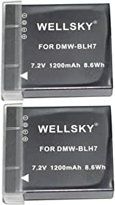 NLC DMW-BLH7 互換バッテリー [ 2個セット ] 1200mAh [ 純正充電器で充電可能 残量表示可能 純正品と同じよう使用可能 ] パナソニック LUMIX ルミックス DMC-GM1K DMC-GM5 DMC-GM1S DMC-GF7 DC-GF9 DC-GF10 DC-GF90