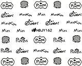 Amazon.co.jpネイルシール アルファベット 文字 パート2 ブラック/ホワイト/ゴールド/シルバー 選べる44種 (ブラックBP, 25)