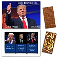 "DA CHOCOLATE キャンディお土産TRUMPチョコレートセット1箱7.2x5.2 ""3オンス各チョコレート4x2"" (MILK Orange Cedar Mint)"