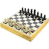 Set of 6 – ハンドメイドインディアンチェスセット – 再生Chess withソープストーンチェスピース&ストーンと木製チェスボード – Uniqueチェスセットとボードforギフト
