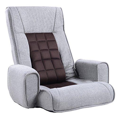UNE BONNE(ウネボネ) こたつ 座椅子 リクライニング フロアチェア リラックス 癒しのフロアチェア FABRIC_グレー