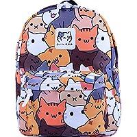 Tauras Anime Neko Atsume Cosplay Backpack Student Daypack Laptop Bag College Bag Fashionable 3D DIY Lightweight Large Space Anti-Dirt Schoolbag Should Bag Message Bag-8