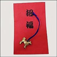 干支キャスト、紐付、招福赤袋付き 50個 / 正月 景品 プレゼント 粗品  1569