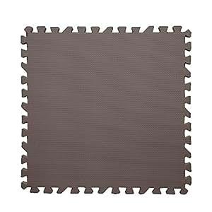 ジョイントマット カラー (ダークブラウン) 6畳用 32枚組マット+予備4枚 マット 大判60cm 厚み1.2cm EVA樹脂 弾力性 防音性 保温性 耐久性