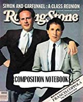 Composition Notebook: Paul Simon American Singer Songwriter Simon Garfunkel Music Band The Sound of Silence. Soft Cover Paper 7.5 x 9.25 Inches, Composition Notebooks, One Subject 110 Pages
