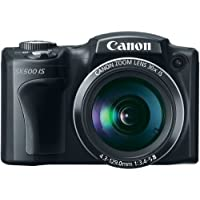 Canon PowerShot SX500 IS 16.0 MP Digital Camera with 30x Wide-Angle Optical Image Stabilized Zoom and 3.0-Inch LCD (Black) (OLD MODEL) [並行輸入品]
