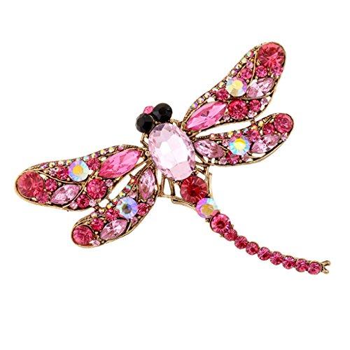 [해외]노 명품 패션 라인 석 크리스탈 웨딩 신부 합금 핀 브로치 잠자리 형/No brand name fashion rhinestone crystal wedding bride alloy pin brooch dragonfly type