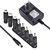 [PSE認証] SoulBay 5V 2A ACアダプタ充電器の交換 8つのヒントを含む, USBハブのための規制電源アダプタ、テレビボックス、MP3 / MP4、タブレット、カメラ、ブルートゥーススピーカー、GPS、おもちゃ、ウェブカメラ、ルータやその他の5Vエレクトロニクス