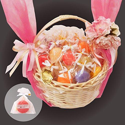 リボン付 マカロン 40個入(41~50個へ変更可) かご盛り 天使がくれたマカロン お菓子 ギフト プチギフト 個包装