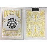 カード日月デザインを再生自転車黄色のトレース Bicycle Yellow Trace Playing Cards Sun Moon Design