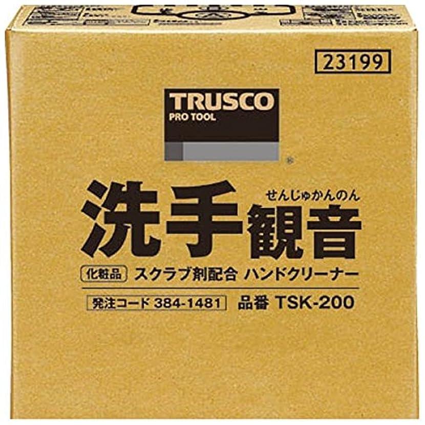 紳士気取りの、きざなラバマークTRUSCO 洗手観音 20kg バックインボックス TSK-200