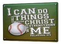 なまけ者雑貨屋 Motif Baseball Sayings ブリキ看板 メタル 壁飾り ポストカード サインプレート ポスター