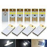 ミニUSBライト超薄型LED低電源ポータブルキーチェーンポケット財布カードランプ3SMD LEDランプキャンプアウトドアラップトップコンピュータ電源銀行バックアップライトキュートサイズホワイトライト10個パックusbl-3d-w-10
