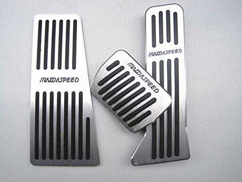 CarAngels アルミペダル(3ピース)for MAZDA AXELA ATENZA CX-5(マツダ アクセラ アテンザ CX-5)スポーツ セダン BM系