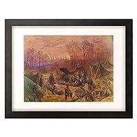 Dore, Gustave 「A military encampment.」 額装アート作品