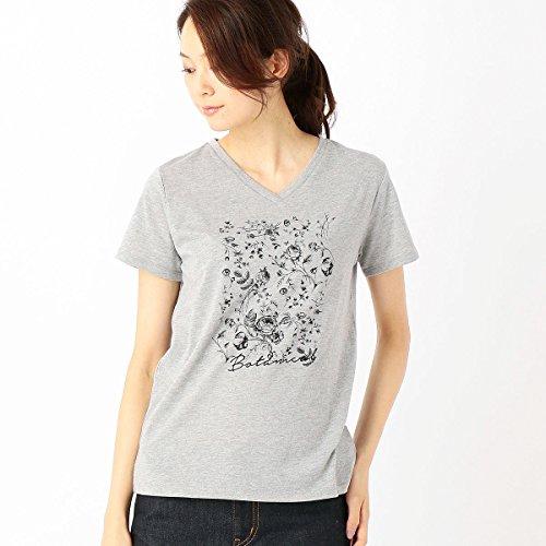 (コムサ イズム) COMME CA ISM ボタニカルプリント Tシャツ レディース M グレー