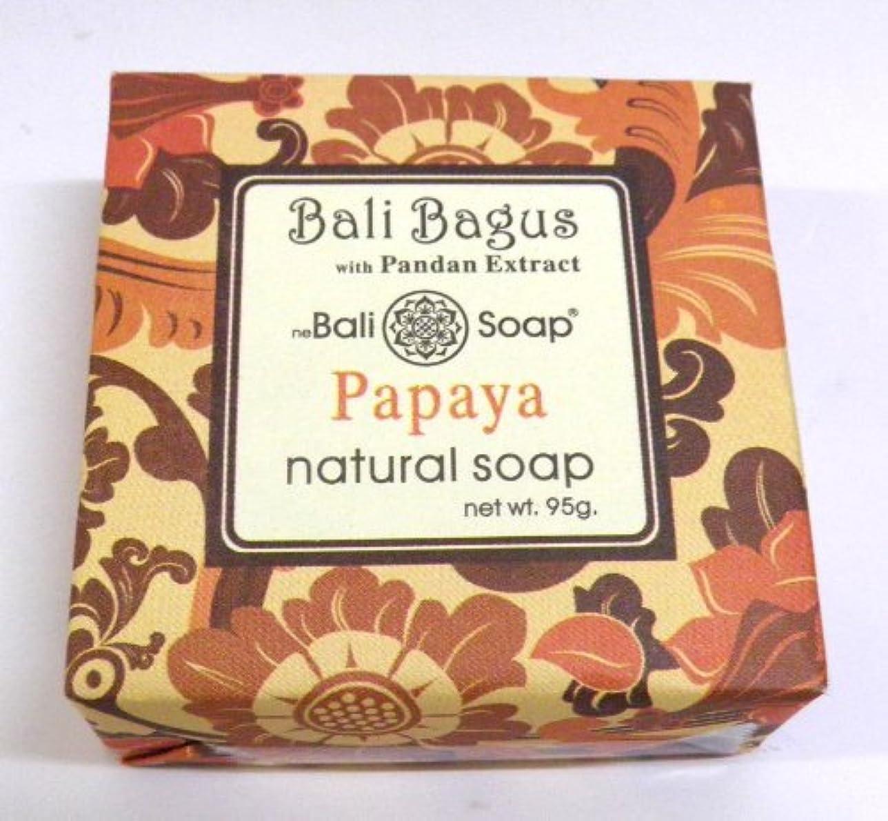 時間とともにダイヤモンド看板Bali Bagus バリナチュラルソープ (Papaya パパイヤ)
