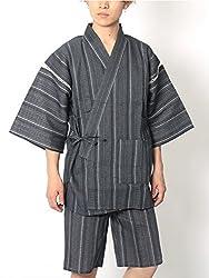 (リピード) REPIDO 甚兵衛 メンズ シジラ織 甚平 浴衣 和服