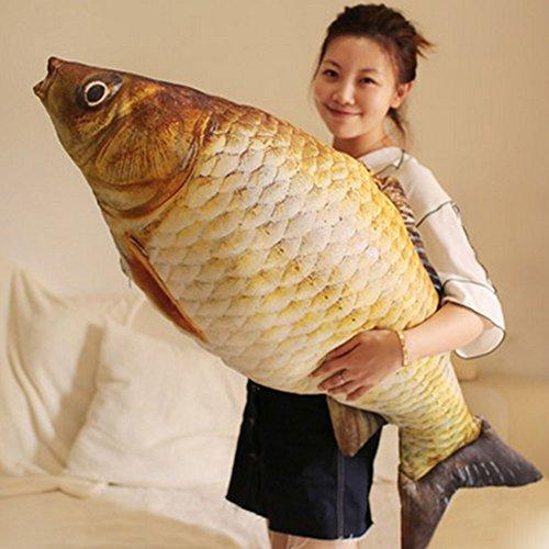 Mrs.L Store リアル おもしろい 魚形 抱き枕 ぬいぐるみ クッション 本物そっくり プレセント (115cm)