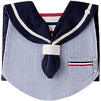 bib-bab ベビースタイ マリンタイプ ストライプ 青(紺襟)