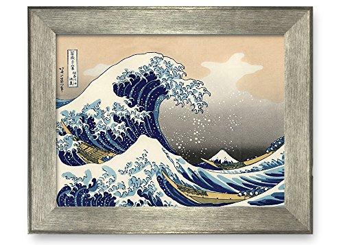 """wall26–The Great Wave off Kanagawa by Katsushika Hokusai–Framedアートプリント–有名なペイント壁装飾 24""""x32"""""""