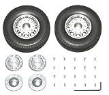 タミヤ RCビッグトラック・オプション&スペアパーツ TROP.12 ツインスポークアルミホイールセット (フロント用) 56512