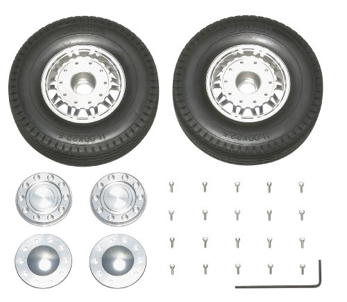 RCビッグトラック・オプション&スペアパーツ TROP.12 ツインスポークアルミホイールセット(フロント用) 56512