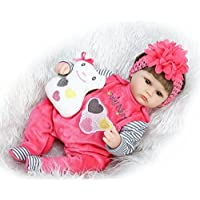 ソフトビニールRebornベビーガール人形シリコンFake Preemie with Clothesセット、18インチGentle Touch Kids Toyギフト