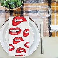artzfolio唇テーブルナプキンサテン生地 20inch x 20inch; SINGLE PIECE AZKIT28782419NAP_TB_L_02-S1_SN