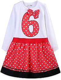 11fc7c245a248 LittleSpring 女の子 お誕生日 ドレス 長袖 ワンピース ベビー ガールズ 子供用 お揃い 衣装 フォーマル