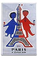 パリ1951年ヴィンテージポスター(アーティスト: Savignac、Raymond )フランスC。1951 12 x 18 Metal Sign LANT-59921-12x18M