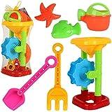 YanGbeau 子供の楽園カシアシャチプールリークツールシャワーウォータービーチおもちゃ6個セット (Color : Picture Color)