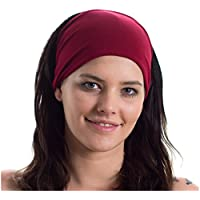 Yoga Headband - Ideal for Sports, Stretching, Pilates, Light Workouts, Exercising and Travel - Made from Lightweight Bamboo Jersey - Stretchy, Stylish & Versatile - by Red Dust Active