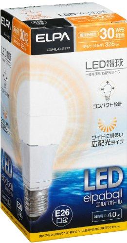 ELPA LED電球 ボール 電球色 LDA4L‐G‐G577 箱1個