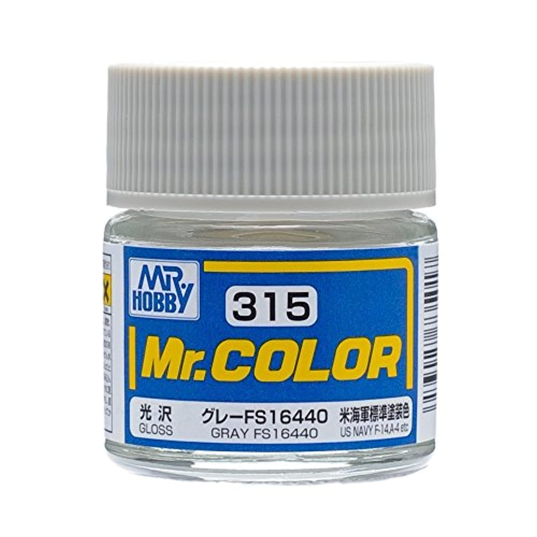 【溶剤系アクリル樹脂塗料】Mr.カラー C315 グレー FS16440