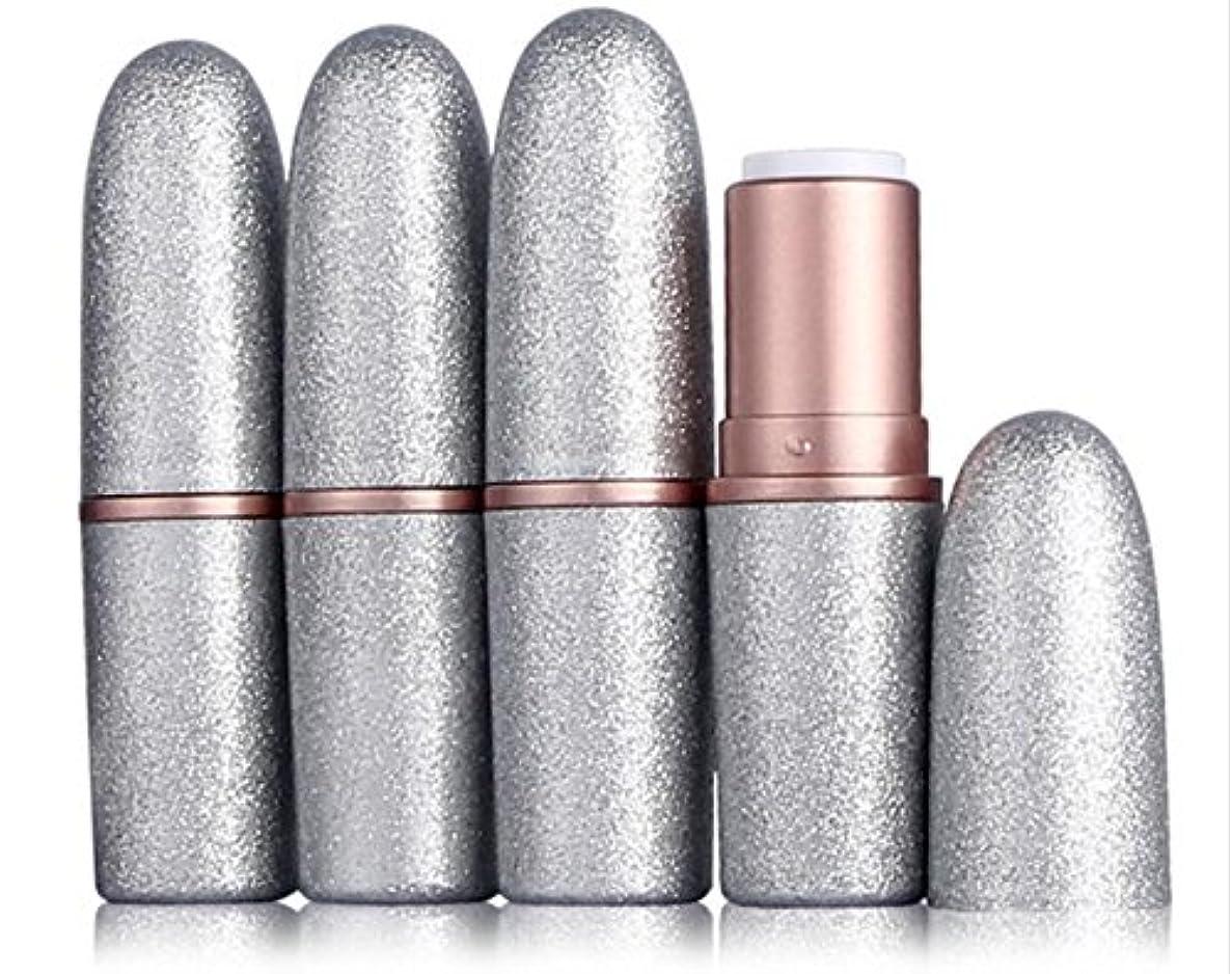 緩む小道症状20個 シルバーブレット形状のリップスティックチューブ自家製リップバームチューブ包装材料化粧品DIYのプラスチック容器内径12.1MM
