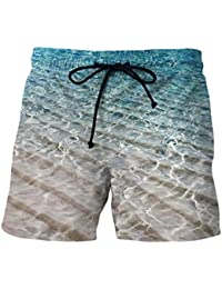 Kankanluck 男性の特大のビーチパンツカジュアルファッション花の印刷ビーチショーツ Nine 2XL